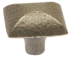 Burbidge Handle Collection Traditional K130 Mottled Square Knob Cast Iron Effect 34 x 28 mm