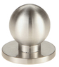 Burbidge Handle Collection Modern Knob Back Plate Brushed Stainless Steel Effect 38 x 26 mm