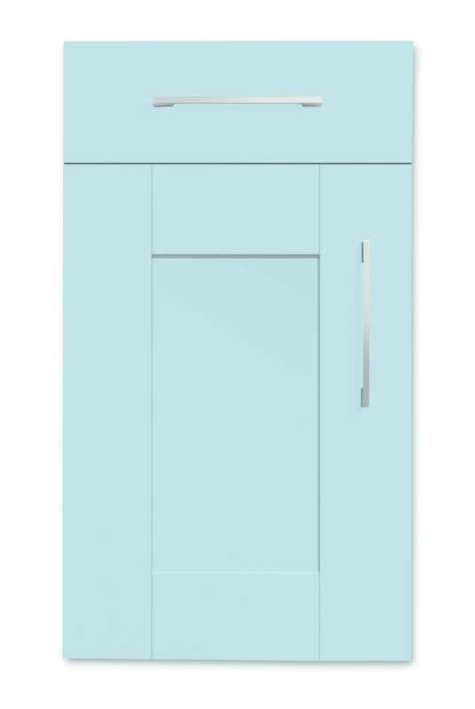 Mirano Richmond Painted Classic Traditional Blue Matte Shaker Tongue V Groove Kitchen Door