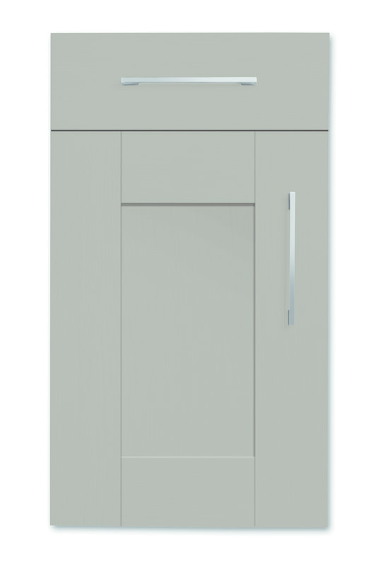 Mirano Richmond Painted Classic Traditional Brown Grey Matte Shaker Tongue V Groove Kitchen Door