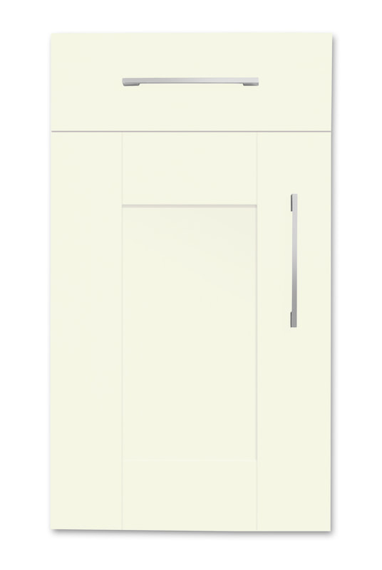 Mirano Richmond Painted Classic Traditional Ivory Matte Shaker Tongue V Groove Kitchen Door