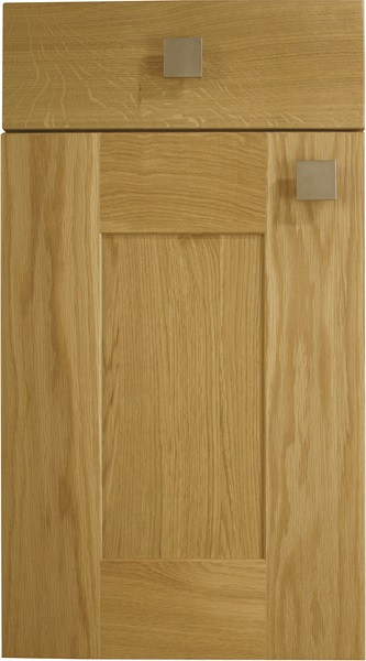 Lansdowne Natural Oak Burbidge Kitchen Classic Traditional 5 Piece Shaker Door Oak Finish