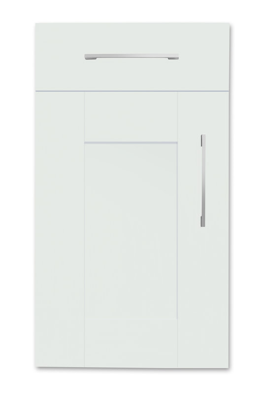 Mirano Richmond Painted Classic Traditional Light Grey Matte Shaker Tongue V Groove Kitchen Door