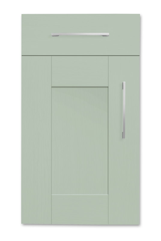 Mirano Richmond Painted Classic Traditional Olive Matte Shaker Tongue V Groove Kitchen Door