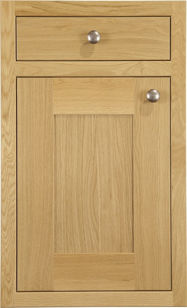 Petworth Natural Oak Burbidge Kitchen Classic Traditional 5 Piece Shaker Door Oak Finish