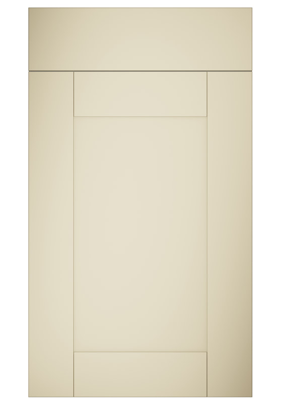 Mirano Portland Painted Classic Traditional Cream Matte Shaker Tongue V Groove Kitchen Door