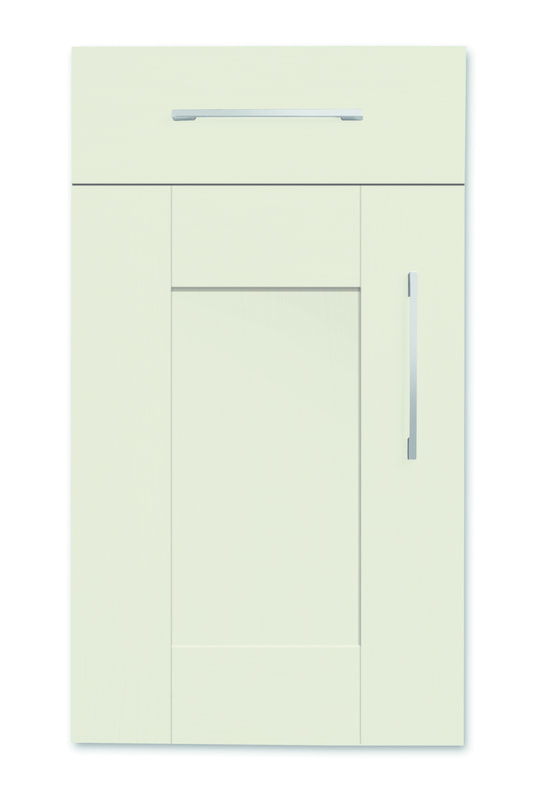 Mirano Richmond Painted Classic Traditional Sage Green Matte Shaker Tongue V Groove Kitchen Door