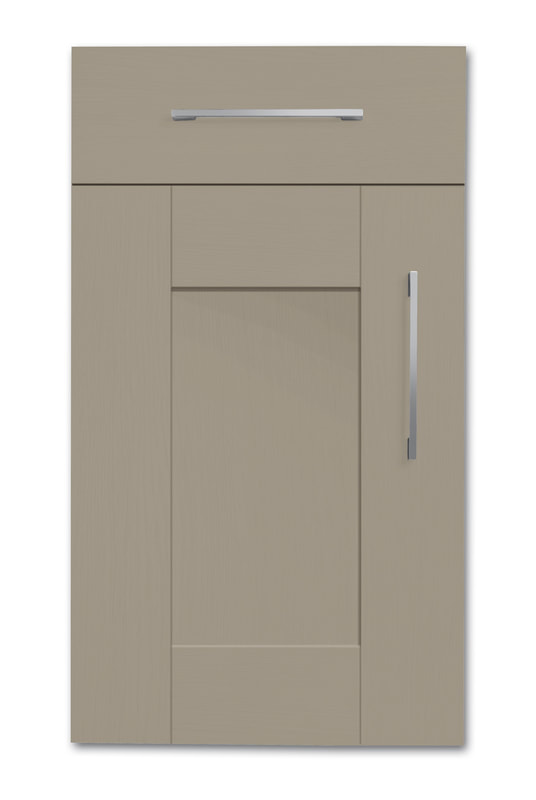 Mirano Richmond Painted Classic Traditional Stone Grey Matte Shaker Tongue V Groove Kitchen Door