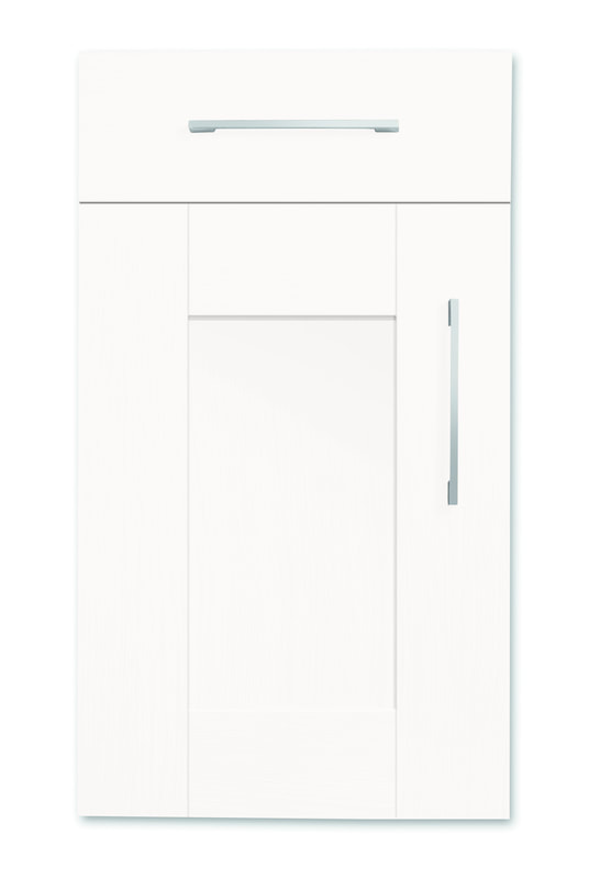 Mirano Richmond Painted Classic Traditional White Matte Shaker Tongue V Groove Kitchen Door