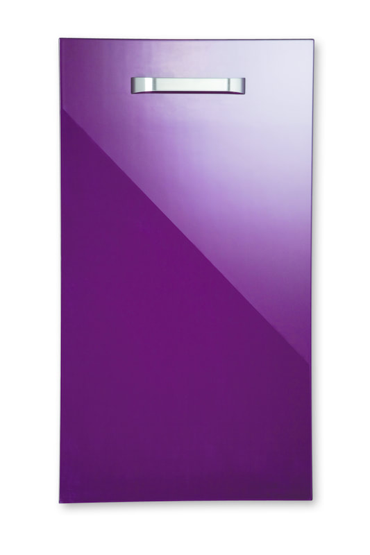 Mirano Reflections Modern Contemporary Aubergine HiGloss Gloss Painted Slab Kitchen Door