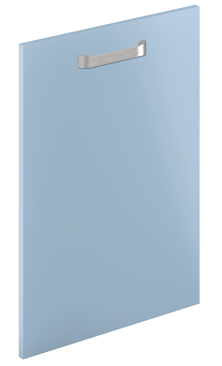 Mirano Glacier Modern Contemporary Blue Matte Painted Slab Kitchen Door