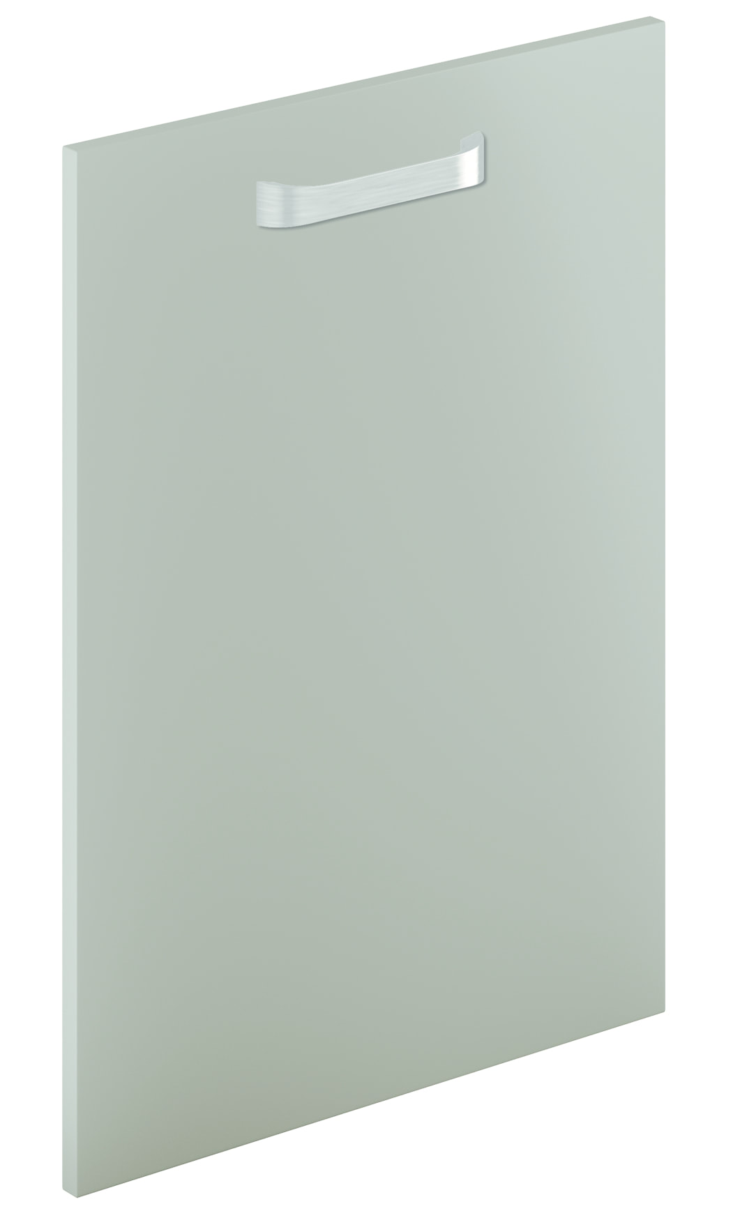 Mirano Lusso Modern Contemporary Brown Grey Matte Painted Slab Kitchen Door