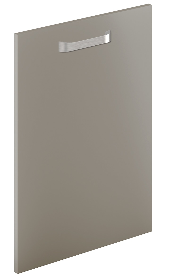 Mirano Glacier Modern Contemporary Anthracite Brown Grey Painted Slab Kitchen Door