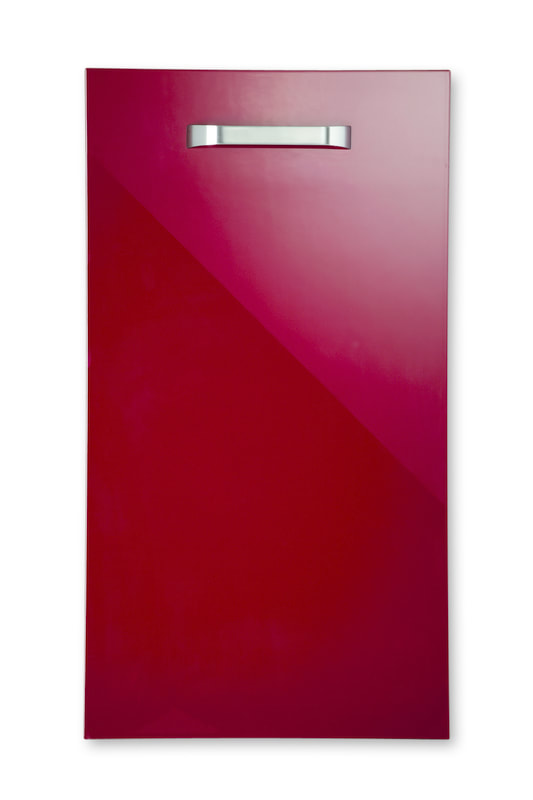 Mirano Reflections Modern Contemporary Burgundy HiGloss Gloss Painted Slab Kitchen Door