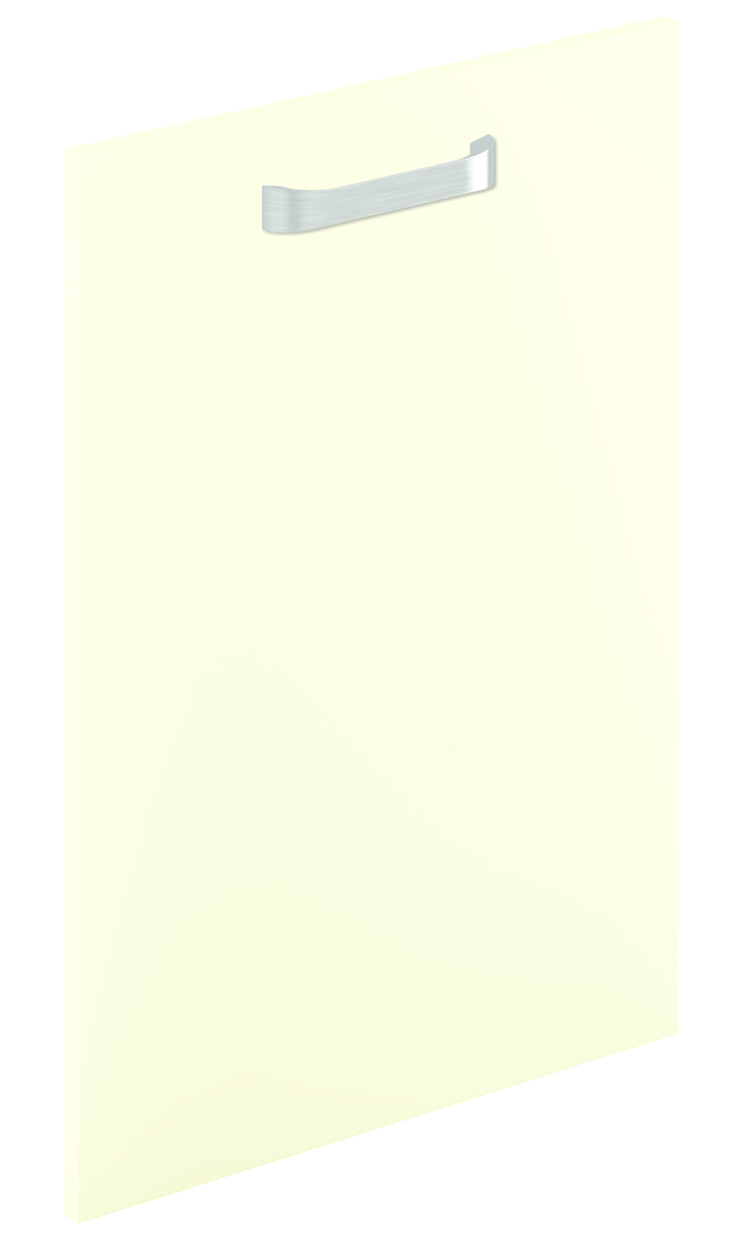 Mirano Lusso Modern Contemporary Cream Matte Painted Slab Kitchen Door