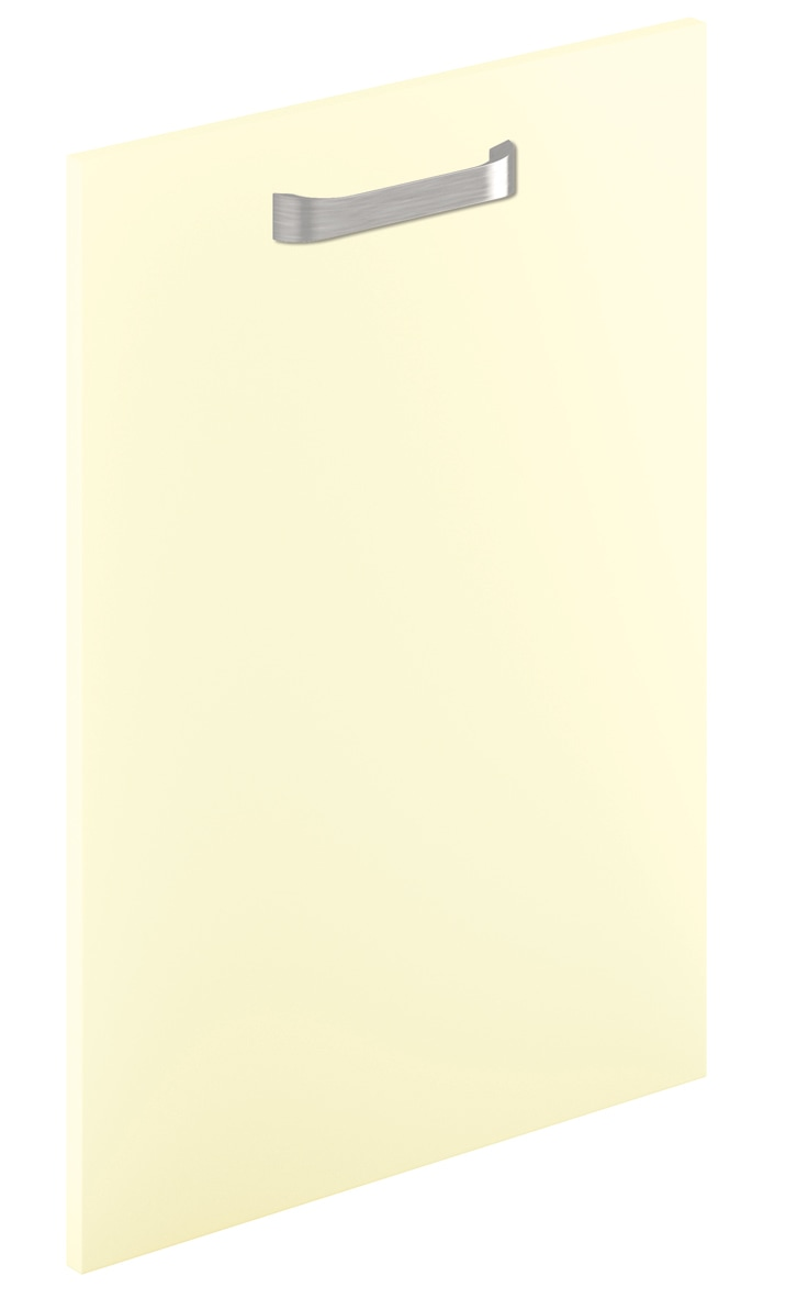 Mirano Glacier Modern Contemporary Cream Matte Painted Slab Kitchen Door