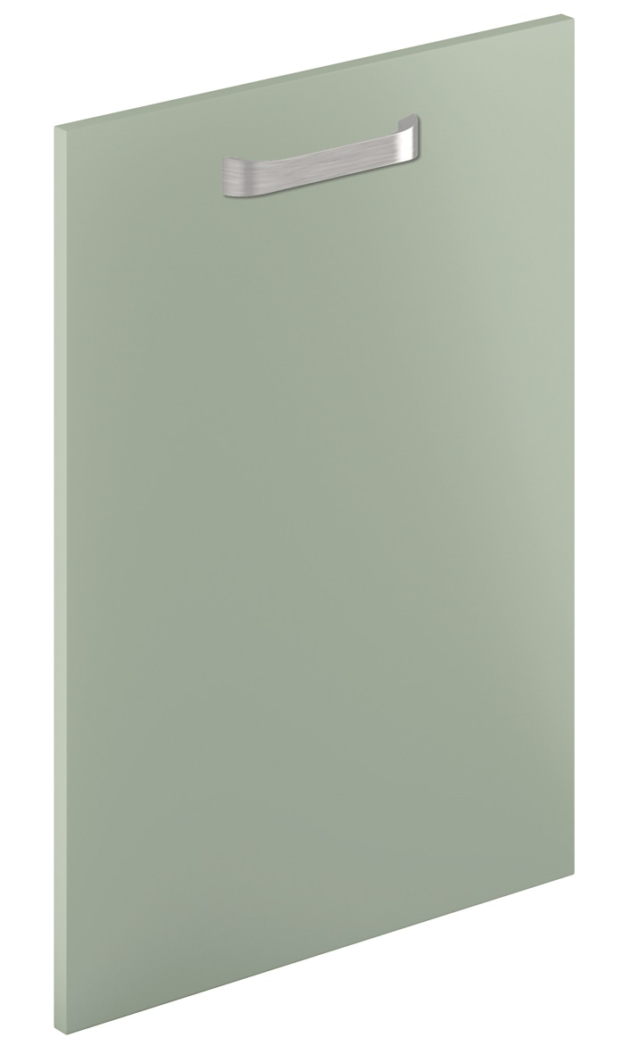 Mirano Glacier Modern Contemporary French Grey Matte Painted Slab Kitchen Door