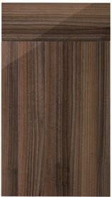 Mirano Glacier Modern Contemporary Walnut Gloss Painted Slab Kitchen Door