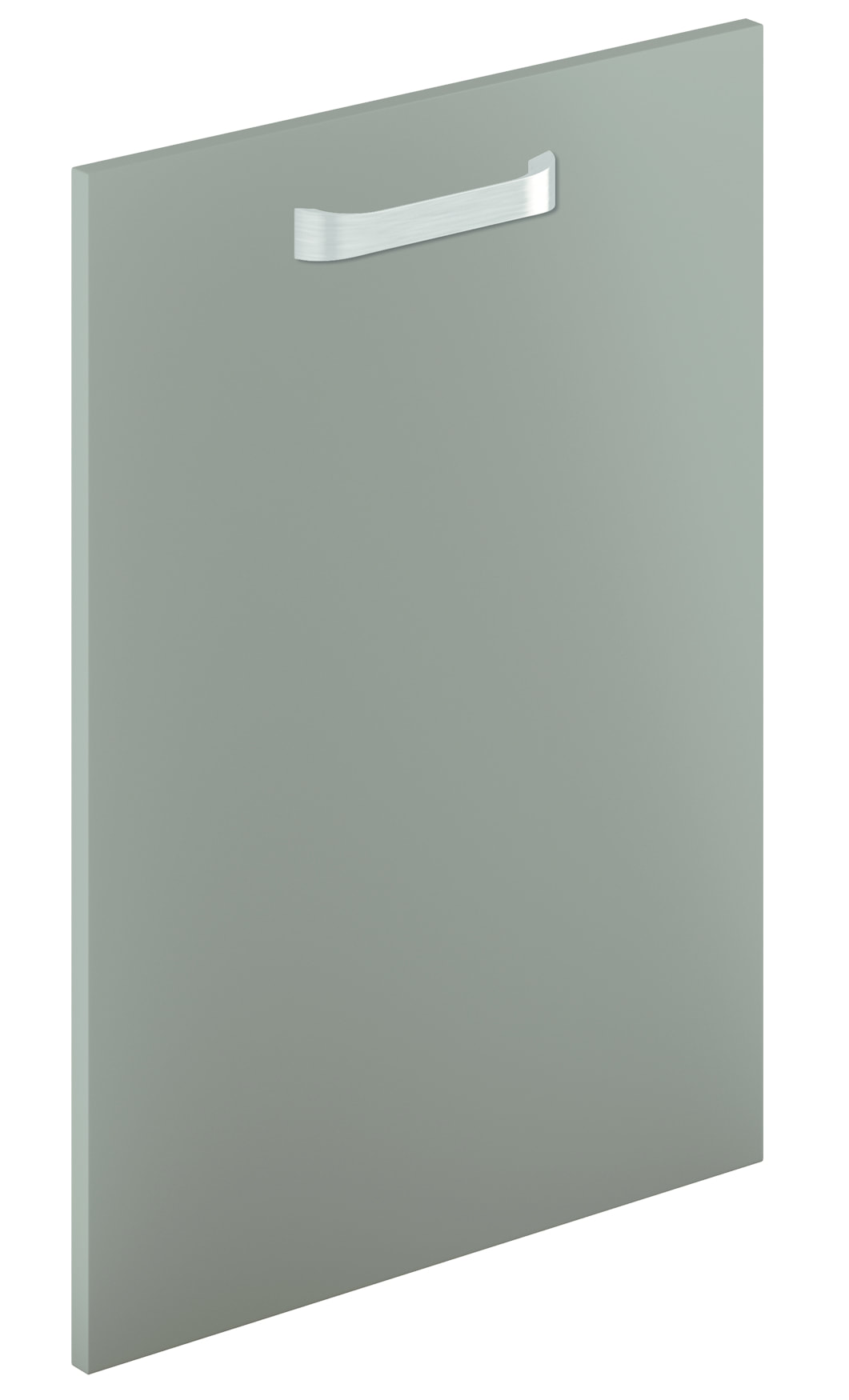 Mirano Lusso Modern Contemporary Lava Matte Painted Slab Kitchen Door