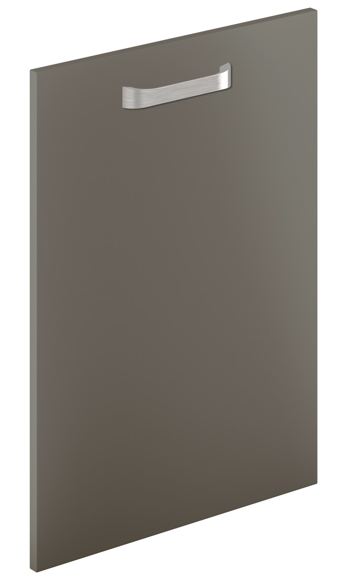 Mirano Glacier Modern Contemporary Lava Matte Slab Painted Kitchen Door