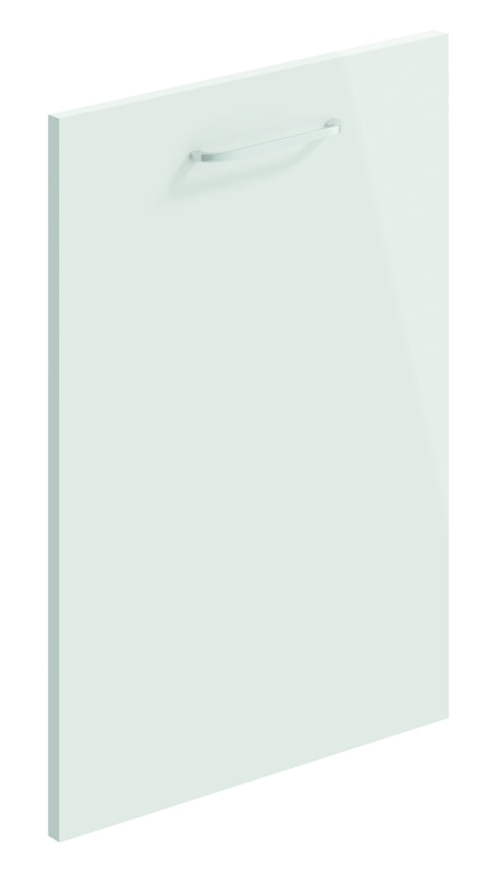 Mirano Lusso Modern Contemporary Light Grey Gloss Painted Slab Kitchen Door
