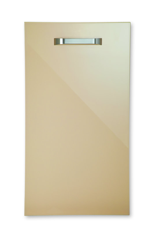 Mirano Reflections Modern Contemporary Mocha HiGloss Gloss Painted Slab Kitchen Door