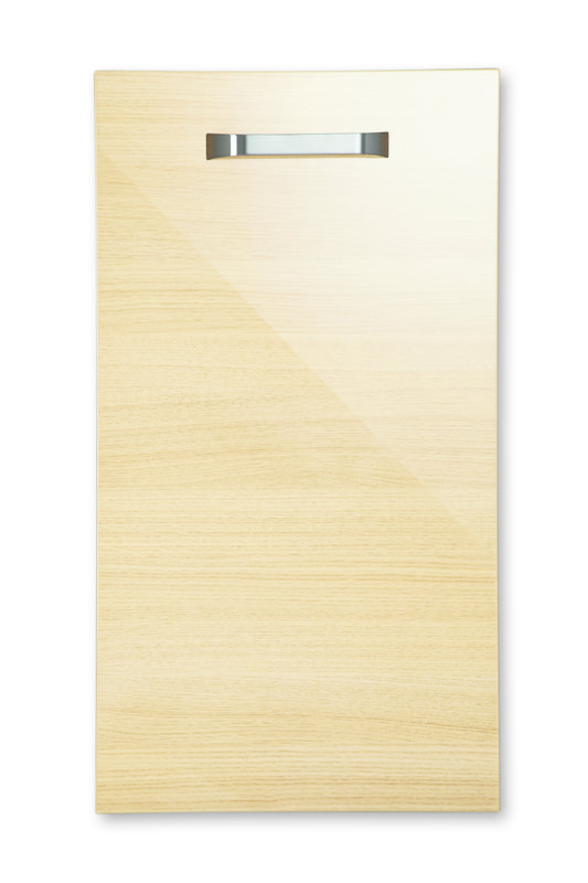 Mirano Reflections Modern Contemporary Oak HiGloss Gloss Painted Slab Kitchen Door