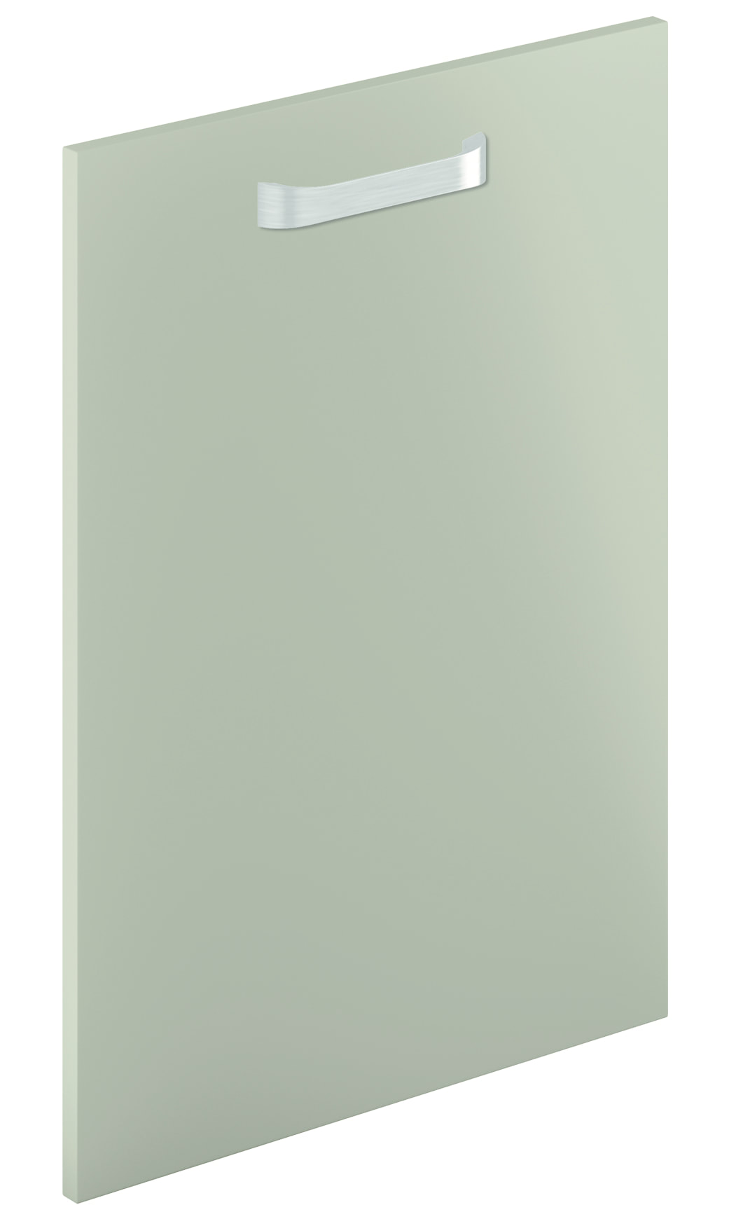 Mirano Lusso Modern Contemporary Olive Matte Painted Slab Kitchen Door