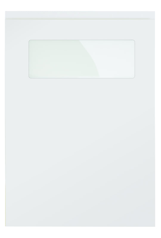 Uform Kitchen Stori Strada Modern Contemporary Light Grey Leatterbox Glass Glaze Matte Painted Slab Kitchen Door